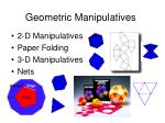geometric manipulatives
