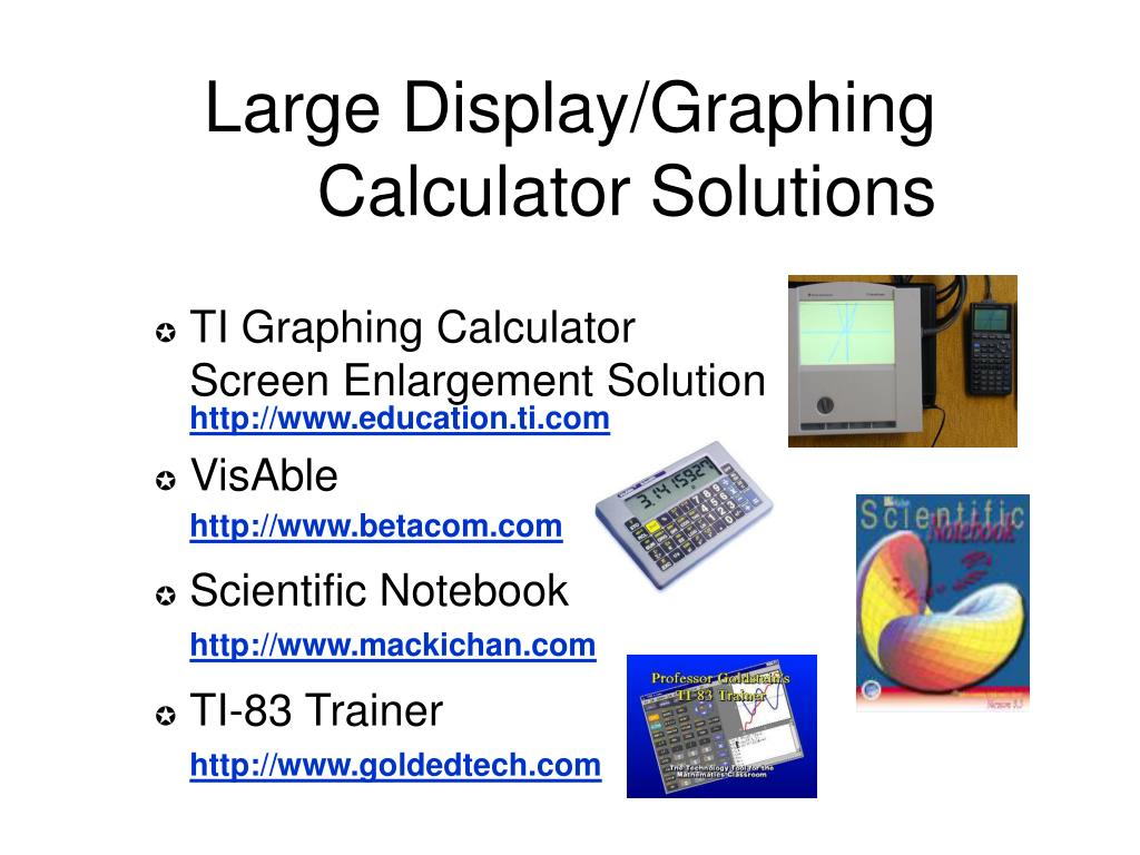 Large Display/Graphing