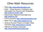 other math resources