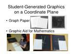 student generated graphics on a coordinate plane