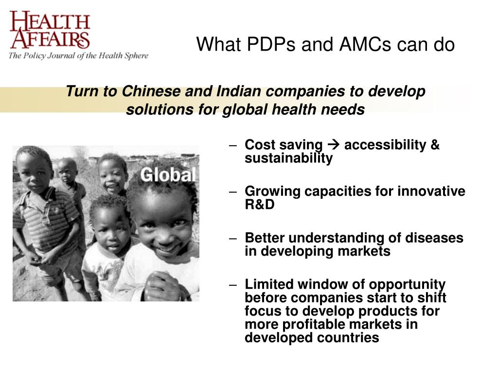 What PDPs and AMCs can do