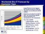 worldwide bio it forecast by customer type