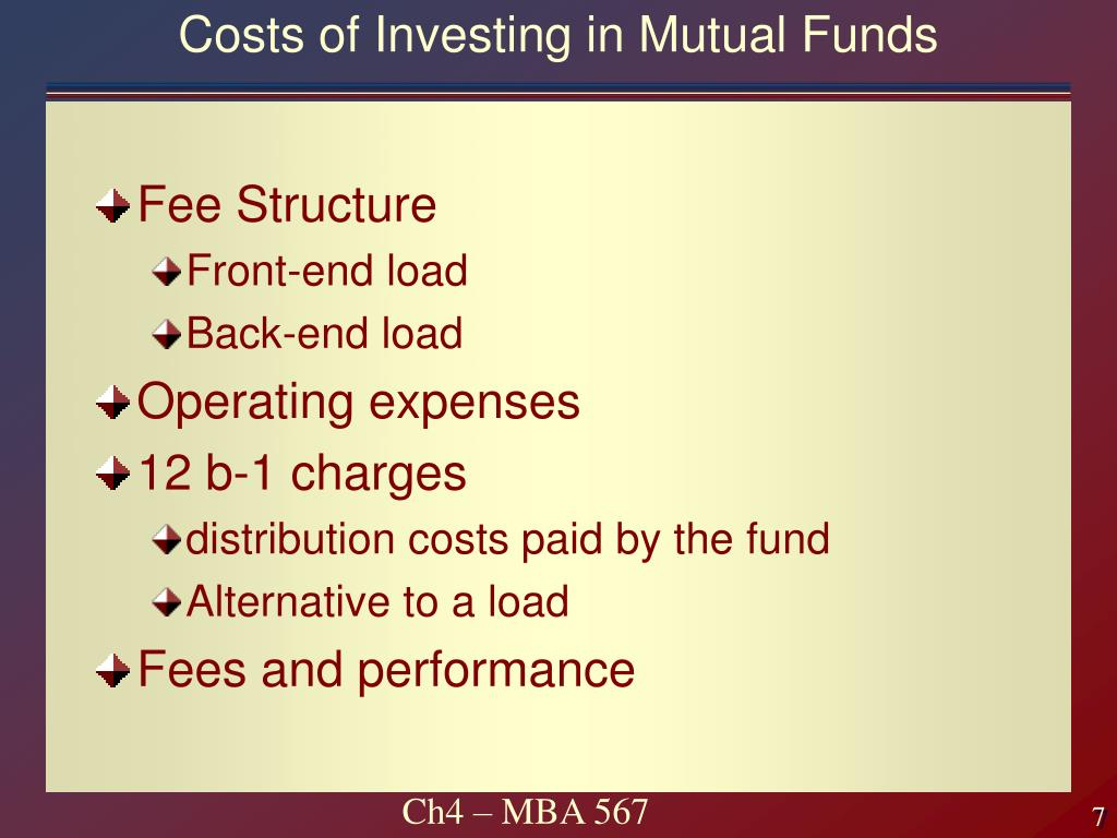 Costs of Investing in Mutual Funds