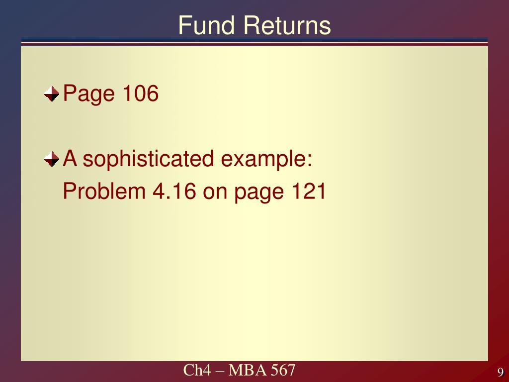 Fund Returns