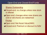 open end and closed end funds