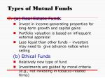 types of mutual funds11