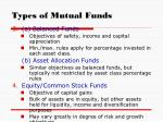 types of mutual funds9