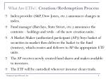 what are etfs creation redemption process