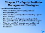 chapter 17 equity portfolio management strategies
