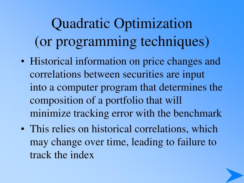 Quadratic Optimization