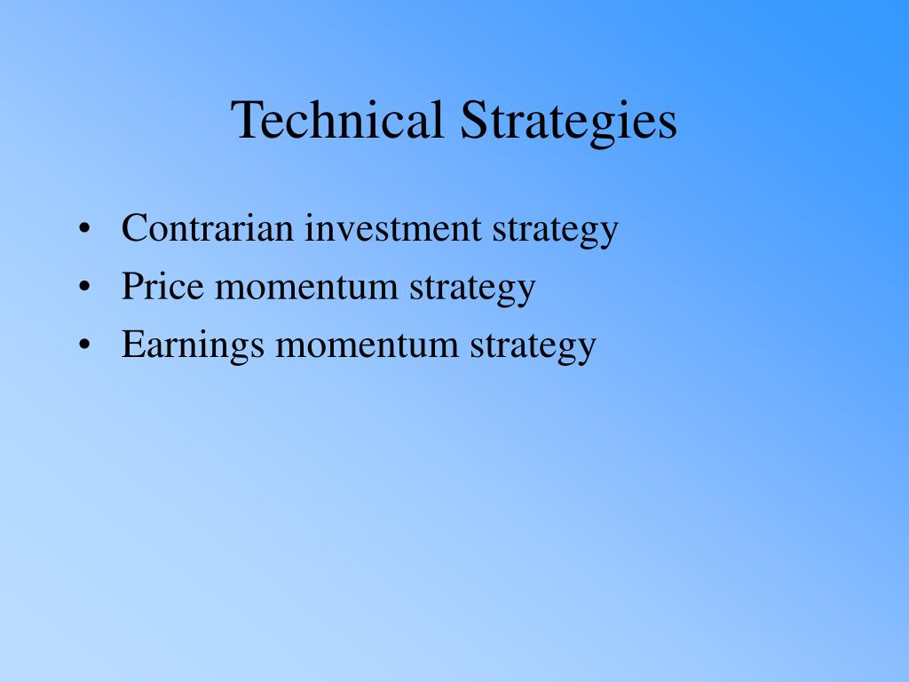 Contrarian investment strategy