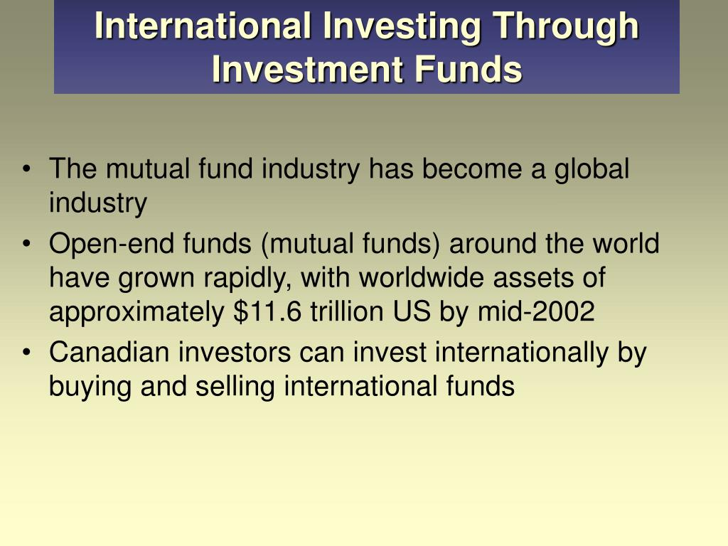 International Investing Through Investment Funds