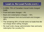 load vs no load funds cont