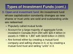 types of investment funds cont12