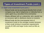 types of investment funds cont13