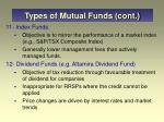 types of mutual funds cont24