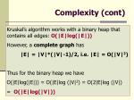 complexity cont