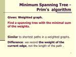 minimum spanning tree prim s algorithm