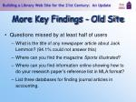 more key findings old site