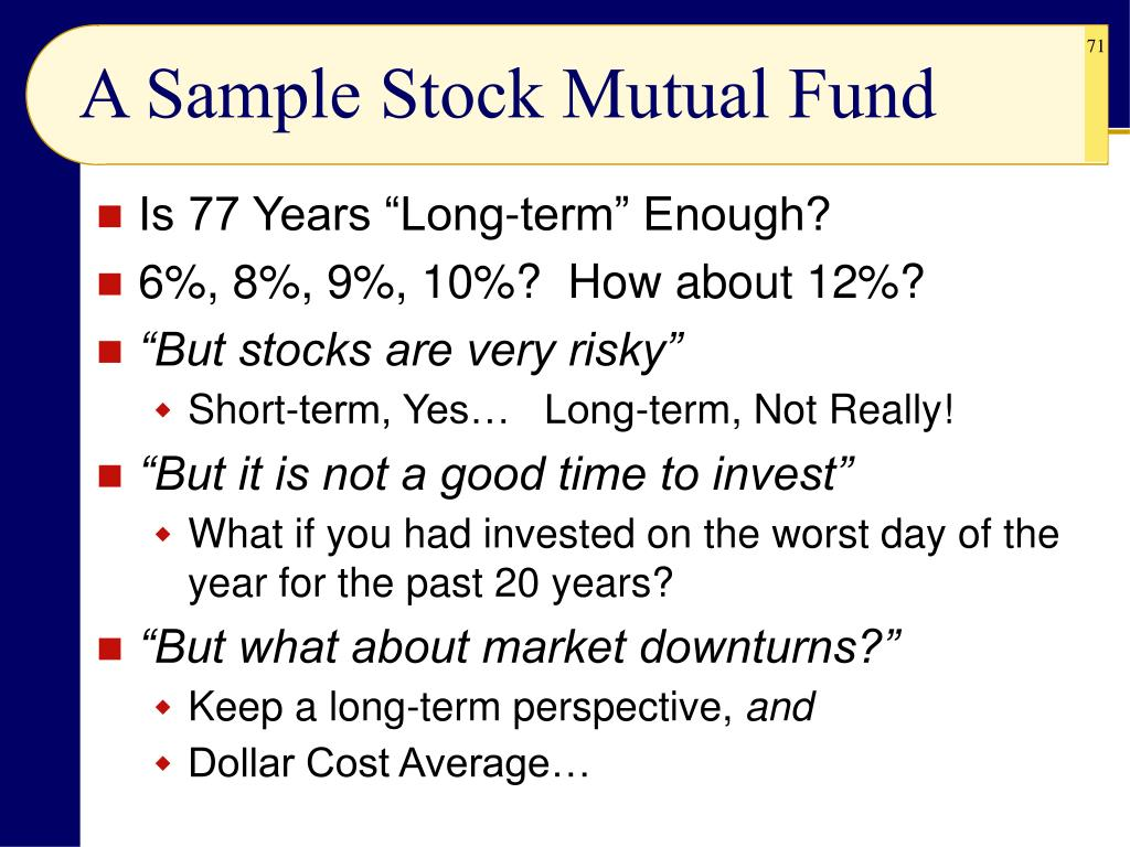 A Sample Stock Mutual Fund