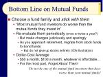 bottom line on mutual funds