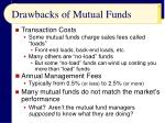 drawbacks of mutual funds