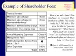example of shareholder fees28