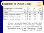 examples of dollar costs