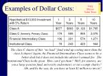 examples of dollar costs31