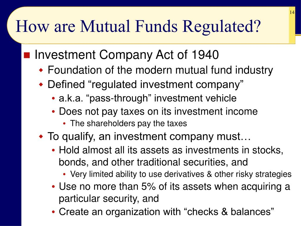 How are Mutual Funds Regulated?