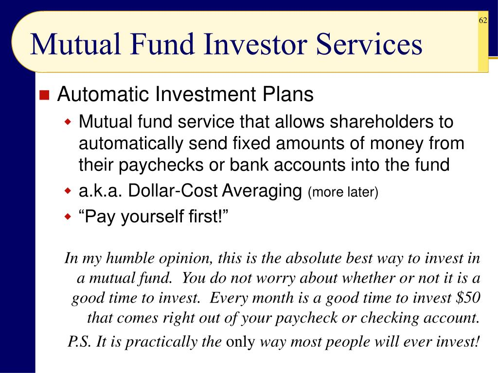 Mutual Fund Investor Services