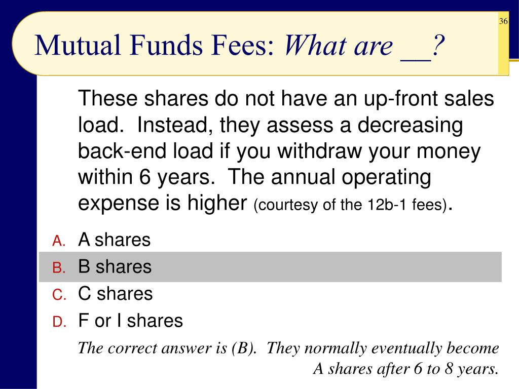 Mutual Funds Fees: