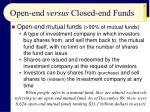 open end versus closed end funds