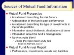 sources of mutual fund information
