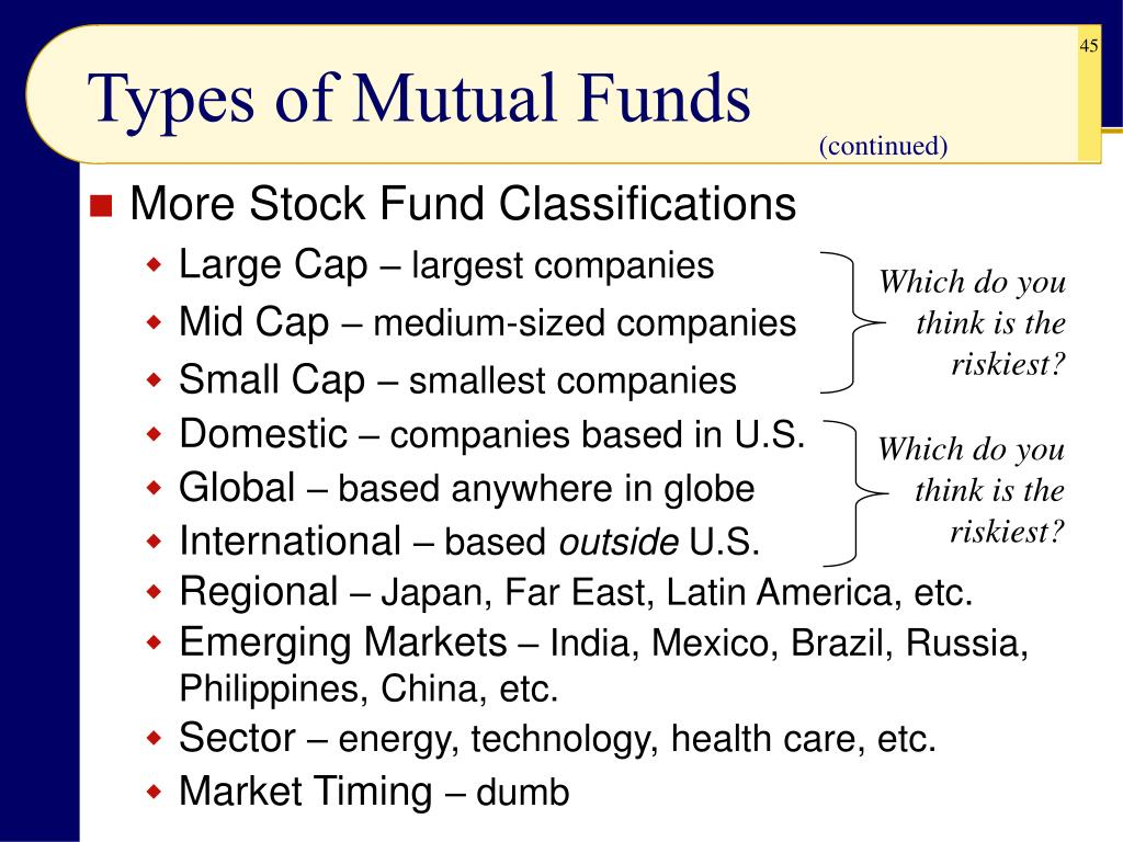 More Stock Fund Classifications