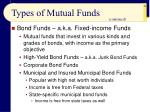 types of mutual funds46