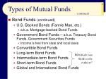 types of mutual funds47