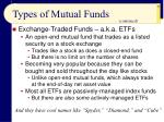 types of mutual funds55
