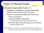 types of mutual funds57