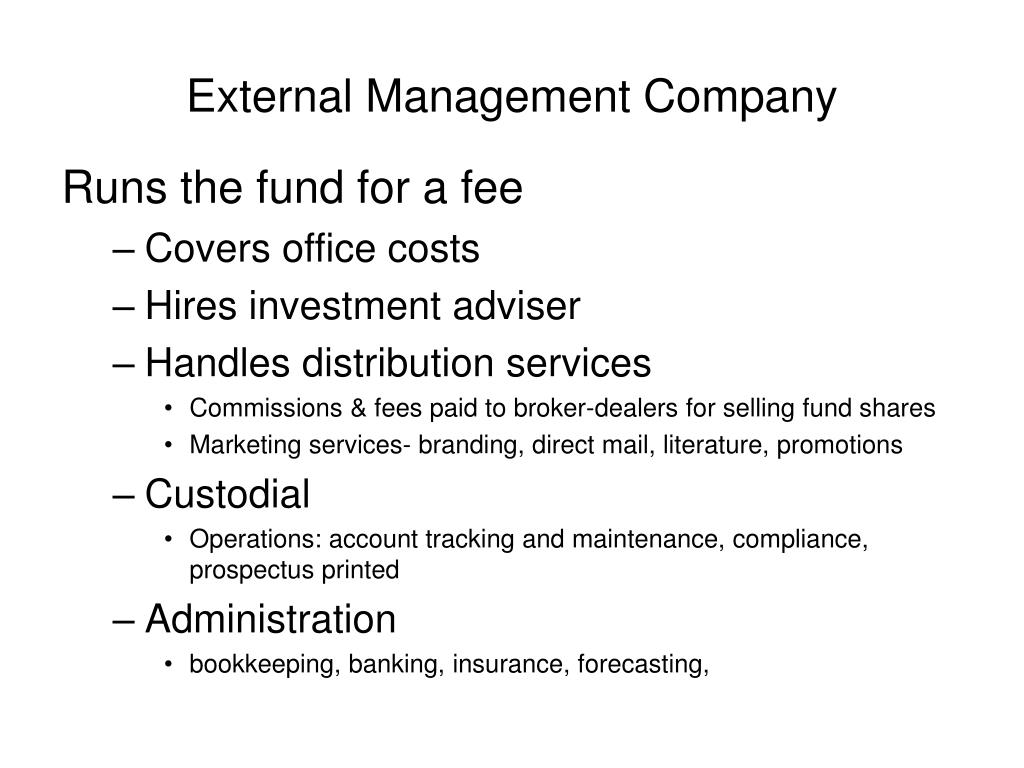 External Management Company