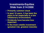 investments equities slide from 2 14 2000