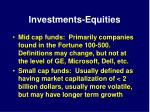 investments equities16