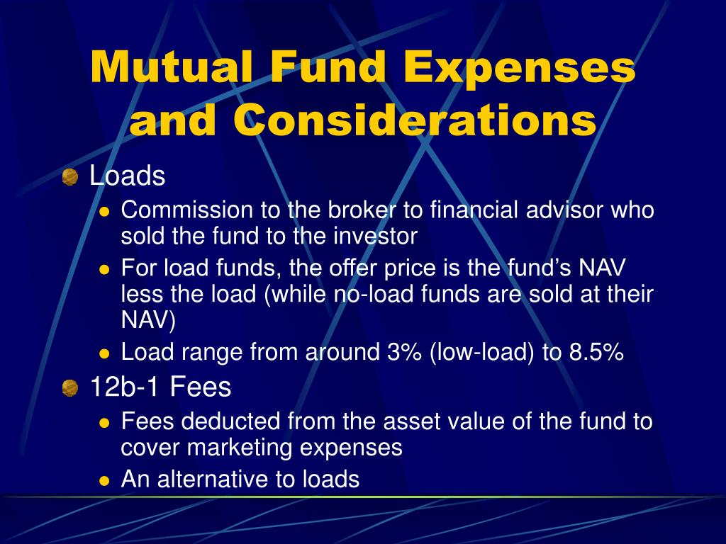 Mutual Fund Expenses and Considerations