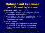 mutual fund expenses and considerations22