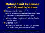 mutual fund expenses and considerations23