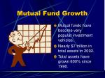 mutual fund growth