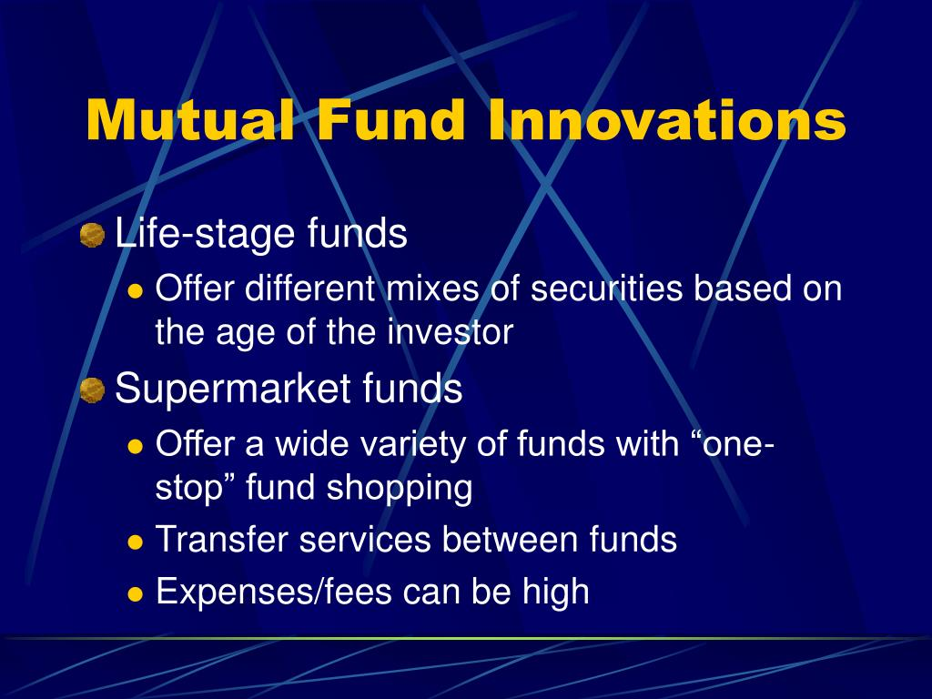 Mutual Fund Innovations