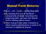 mutual fund returns12