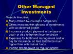 other managed investments33