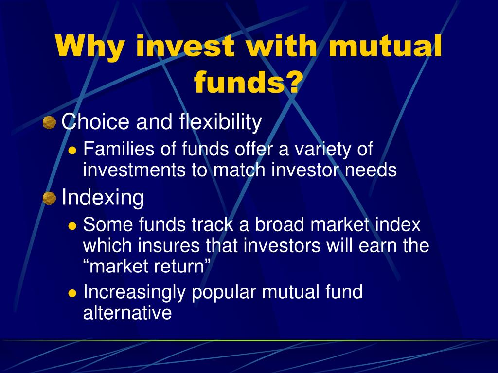 Why invest with mutual funds?